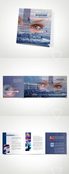 Ampliatel -   Tríptico promocional  - www.versal.net • Diseño Gráfico • Identidad Visual Corporativa • Publicidad • Diseño Páginas Web • Ilustración • Graphic Design • Corporate Identity • Advertising • Web Pages • Illustration • Logo