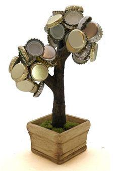 Geschenkidee für einen Bierliebhaber Bonsai, Gadget, Candle Holders, Candles, Support, Drink Beer, Hand Made, Gift Ideas, Magnets