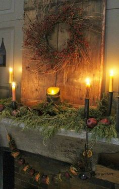 Stunning Primitive Christmas Decorations Ideas – Christmas Celebration – All about Christmas We are want to say thanks if you like to share this post … Primitive Christmas Decorating, Prim Christmas, Christmas Mantels, All Things Christmas, Winter Christmas, Vintage Christmas, Primitive Decor, Christmas Trees, Primitive Patterns