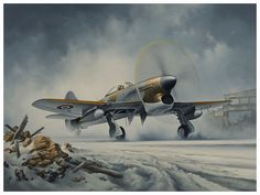 Winter at Volkel (Typhoon) ~ aviation art print by aviation artist Neil Hipkiss
