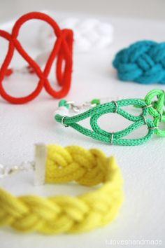 Luloveshandmade: DIY: Nautical Rope Bracelets