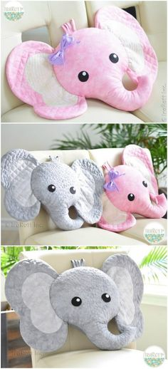 Josefina and Jeffery Pillow Quilting Pattern Josefina und Jeffery Elephant Pillow Quilting Pattern Sewing Pillow Patterns, Sewing Pillows, Quilt Patterns Free, Free Pattern, Elephant Quilts Pattern, Elephant Pillow, Fabric Crafts, Sewing Crafts, Sewing Projects