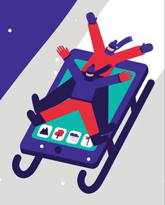New gif with my pal @joselorensso. Holiday card for MIT Technology Review. #magoz #illustration #animation #winter #technology #gif #minimalism