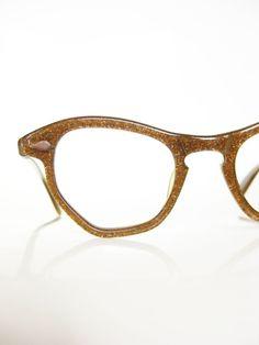 3e50e41c16 Vintage Eyeglasses 1960s Cat Eye Frames 1960s Mad Men Chic Bronze Metallic Cateye  Optical Frames Sixties Mod