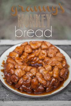 Granny's Monkey Bread is a sweet, gooey, sinful cinnamon sugar treat that will be loved by young and old alike. Be careful, its dangerously addictive.