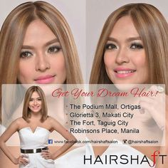 Get your #DreamHair Book your appointment now! #LEVYLUP  Visit us at Hairshaft (Hairshaftsalonglorietta makati city 3rd level glorietta 3 near gold'sgym:) For inquiries call or text telephone number (02-519-6178) mobile number (09-773-463-768)  We Are The #salonthatcares #hairshaftsalon #HairshaftAngel #ilovehairshaft #hairshaftlevy #lucybritanicolevy #hairshaftsalonglorietta #signaturetone #color #brazilianblowout  @hairshaftsalonglorietta @hairshaftpodium @hairshaftfort @hairshaftrobErmita…