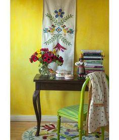 """Gudrun Sjödén Tischläufer """"Mexiko"""" aus Öko-Baumwolle Ob im Alltag oder bei festlichen Gelegenheiten – dieser schön bestickte Tischläufer in leuchtenden Farben ist ein Blickfang für jedes Zuhause. Inspirationsquelle für dieses Modell waren Mexiko und die farbenprächtige Mustertradition des Landes.  Größe 50 x 160 cm Artikelnummer 69203 Preis: 44,- € #tischdeko #tischläufer"""