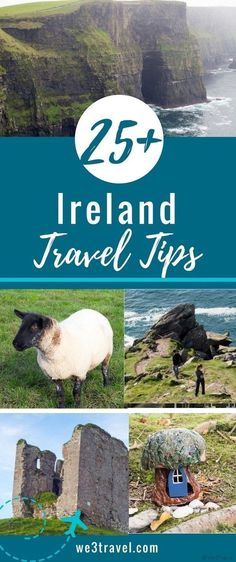 25+ Ireland travel tips with suggestions on the best ways to get around, what to pack, and what to know before you go. #Ireland #Irish #IrelandTravel via @we3travel