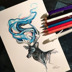 This is a smaller version of an idea that I want to do a more elaborate version of. This one is kind of the 'sketch'. I've noticed that I have been using a lot of black and blue in these last few p...