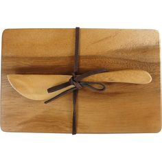 Acacia Wood Mini Cheeseboard and Knife Set