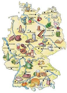 German foods by region for People and Places German Language, Bavaria, German Kitchen, Travel Europe, Germany Travel, Oktoberfest Recipes, Oktoberfest Party, German Recipes, Russian Recipes, Maps, German Beer, Countries, Beer Labels