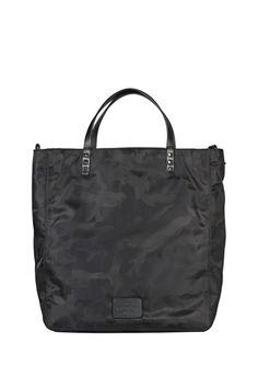 Valentino Garavani handbag with camouflage pattern, leather handles and rockstud detail
