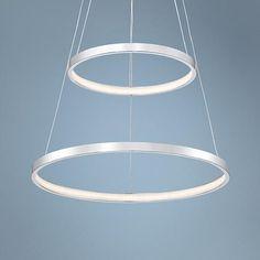 Possini Euro Design Orbital Chrome LED Light Pendant Light