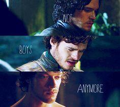 Jon Snow, Robb Stark, & Theon Greyjoy