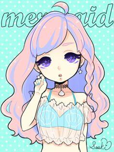 Pastel Goth Mermaid ©saaki