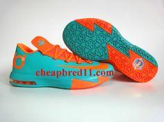 Cheap Nike KD 6 Shoes Orange Green 121e6f697cd7