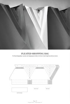 Pleated Shopping Bag - Packaging & Dielines: The Designer's Book of Packaging Dielines