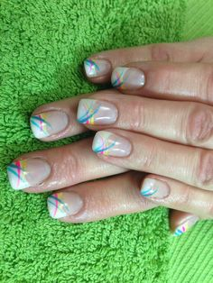 Sandy's nails. Easter gel nail art.