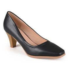 Journee Collection Women's 'Lucy' Classic Stacked Heel Pumps