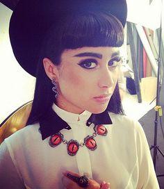 natalia kills. love this eye + the bangs. #makeup