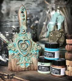 Patina Brush - Art Extravagance Patina Effect Paste Tutorial | Finnabair | Bloglovin'