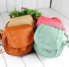 Spring Summer Young Girl Candy-colored Mini Cute Hand-woven Bags PU Leather Women Shoulder Bag