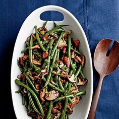 Sherried Green Beans and Mushrooms. Be sure to use a good quality sherrty tha you would drink, not cooking sherry.