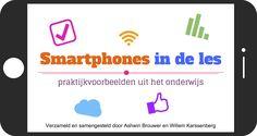 Met trots presenteren Willem Karssenberg en Ashwin Brouwer de uitgave 'Smartphones in de les, praktijkvoorbeelden uit het onderwijs.' In deze uitgave lees je 27 praktijkvoorbeelden van docenten uit het hele land!