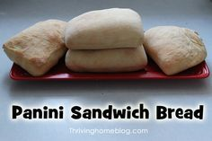 A great bread machine recipe for panini sandwiches (or ANY sandwich). Only 7 simple ingredients necessary!