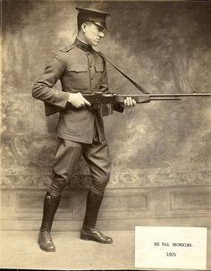 M1918 Browning Automatic Rifle, modeled by Lt. Val Browning