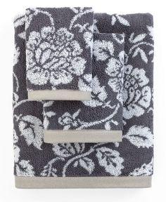 Bianca Bath Towels, Aquarelle Shale Floral Collection - Bath Towels - Bed & Bath - Macy's