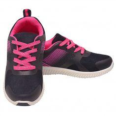 5760e99acb89 Josmo Girls Black Fuchsia Lace-Up Closure Casual Trendy Sneakers 12-4 Kids  Comfortable