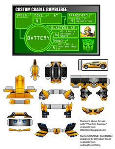 Blog_Paper_Toy_papertoy_BumbleBee_WuLongTi_template_preview Bumblebee Transformers, Bumblebee Bumblebee, Transformers Robots, Birthday Pins, Twin Birthday, Paper Toys, Paper Crafts, Transformers Birthday Parties, Transformer Birthday