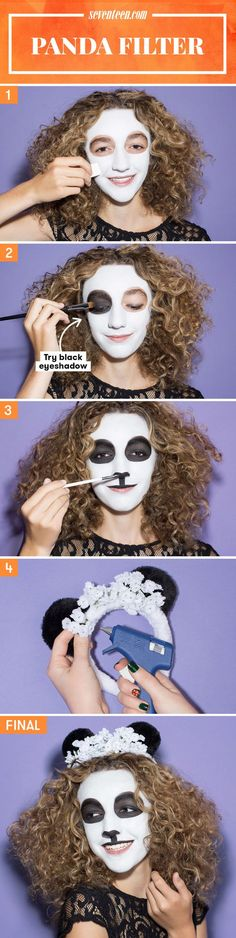 Because who doesn't love pandas?? #Halloween #Makeup