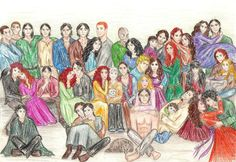 All the Juliet Marillier characters. Group Picture_HappyBday Juliet by Jen7waters.deviantart.com on @deviantART