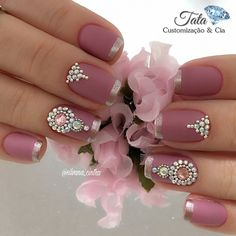 Love the tone on tone french manicure!