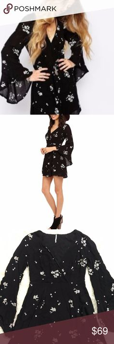 Free People Dress S Jasmine Embroidered Kimono 4 Free People Rayon Gauze Jasmine Embroidered Kimono Sleeve Peasant Dress 4 Small Total length is 34 inches. Bust is 38 inches, unstretched. Free People Dresses Mini