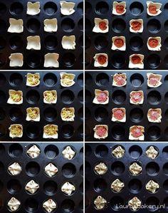 Birthday Snacks, Snacks Für Party, Savory Muffins, Mini Muffins, Brunch Party, High Tea, Tasty Bites, Love Food, Bakery