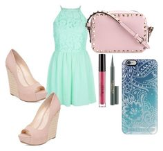 """""""Untitled #80"""" by kyliesue22 on Polyvore featuring Jessica Simpson, Valentino, Stila, MAC Cosmetics and Casetify"""