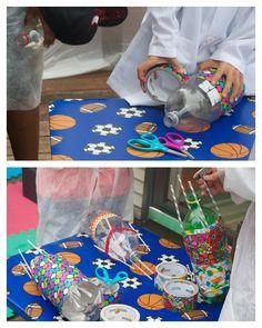 DIY Rocket Building Station for Kids