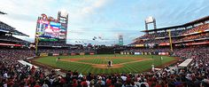 Citizens Bank Park- home of the Philadelphia Phillies in Philadelphia, PA. I adore this ballpark and the Phillies!