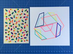 Two very different screenprints united by their vibrant use of colour and graphic line Shift 2 by Frea Buckler on the right and Happy Pills by Chris James both available. Happy Pills, Online Print Shop, Silk Screen Printing, Affordable Art, Geometric Art, Limited Edition Prints, Looking Up, Geometry, Stencils