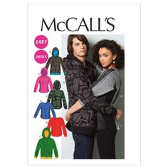 McCall Patterns M6614XM0 Misses'/Men's Tops and Jacket Sewing Pattern, Size XM (SML-MED-LRG) McCall Patterns,http://www.amazon.com/dp/B008FWH26U/ref=cm_sw_r_pi_dp_.jy-sb0BH34PY036