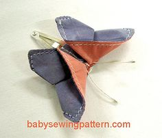 Fabric origami butterfly hair clip tutorial :-) | Baby Sewing Patterns and more