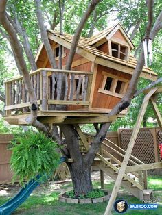 Creative treehouse ideas.