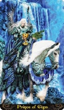 7-11-13 Thursday's Tarot: PRINCE OF CUPS (Tarot Illuminati deck) – Love is in the air today. It's a heart-centered day where emotions come out to express themselves, whether in matters of romance or in other types of relationships.