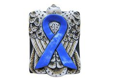 Royal Blue Awareness Ribbon Bead