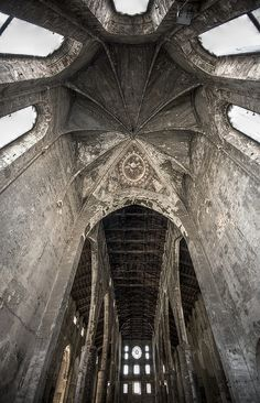 Not sure where this is, but WOW looks at those ceilings!!  By Zavai