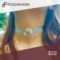NEW BOHO Padre nuestro Spanish  choker Sterling silver Statement choker, organza elastic ribbon, so fits any size. Jewelry Necklaces