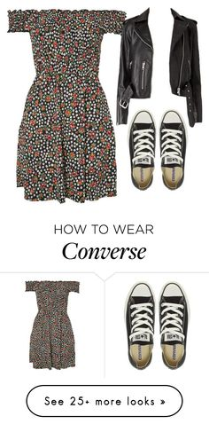 """""""Untitled #1616"""" by chaoticaphrodite on Polyvore featuring Topshop and Converse"""